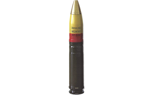30x165mm Round STING with AP-T Projectile (Tungsten Alloy Penetrator